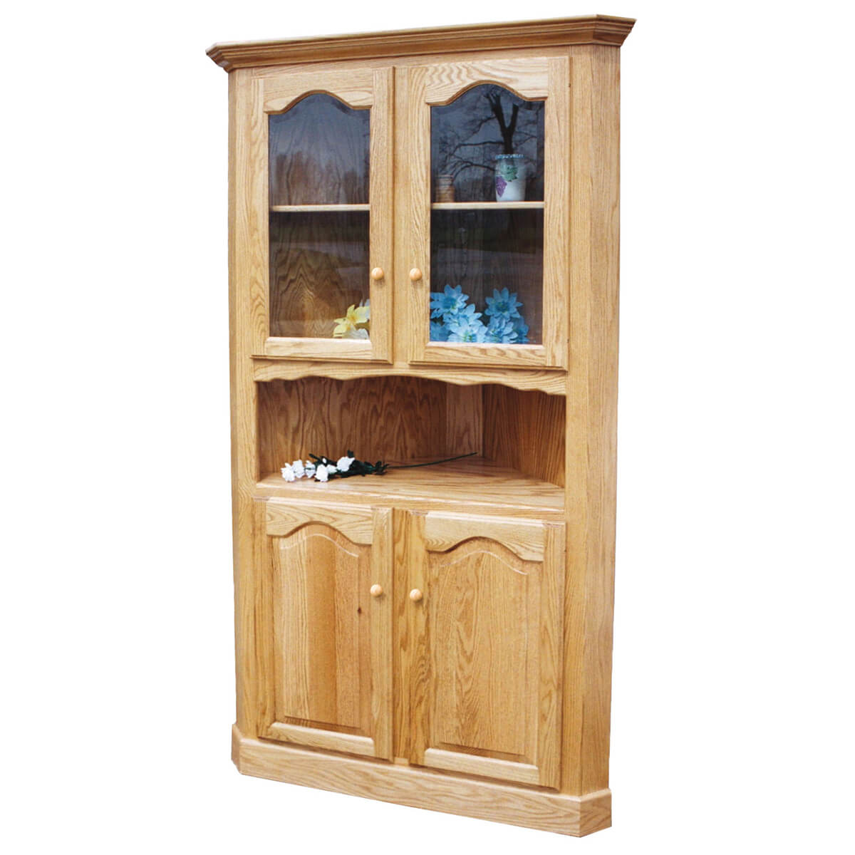 Corner Dining Room Cabinet: Amish Country Heirlooms